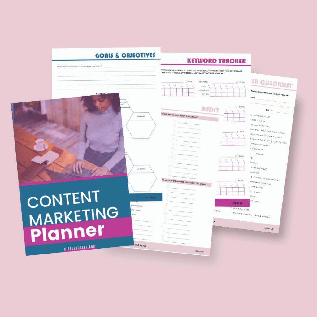content marketing planner